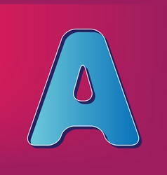 Letter a sign design template element vector