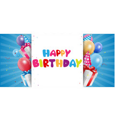 Birthday celebration background vector