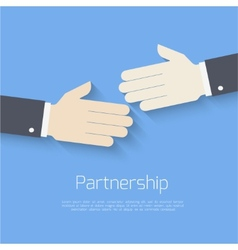 Partnership concept vector