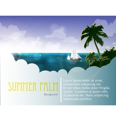 Summer holiday web and print template vector