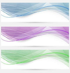 Swoosh speed wave crystal header collection vector
