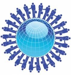businessman globe vector image