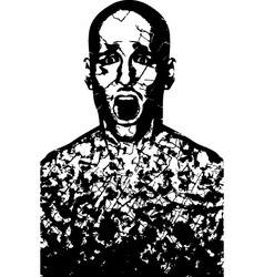 corroded man vector image