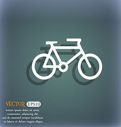 Bike icon symbol on the blue-green abstract vector