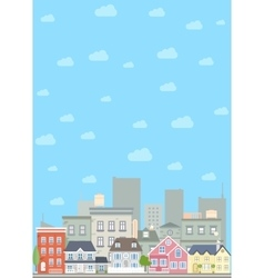 Flat cityscape background vector