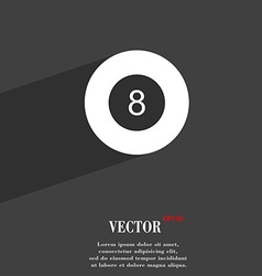 Eightball billiards symbol flat modern web design vector