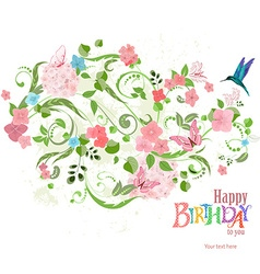 Invitation card with a lovely floral ornament for vector