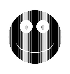 Smile face circle sign vector image