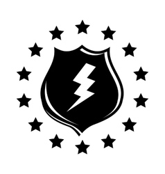 Lightning and shield icon simple style vector