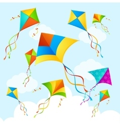 Colorful kite background vector