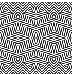 Optical art abstract striped seamless deco pattern vector