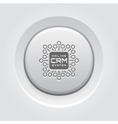 Online crm system icon vector