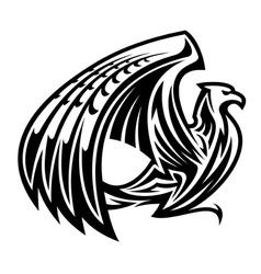 Heraldic griffin bird mascot vector