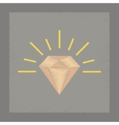 Flat shading style icon diamond symbol vector