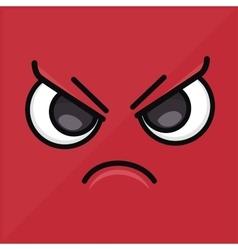 Angry wallpaper emoticon design icon vector
