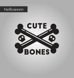Black and white style icon cross bones vector