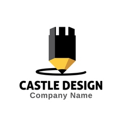 Castle design design vector
