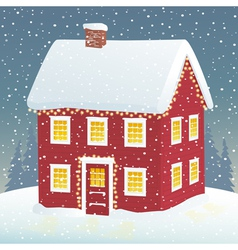 Christmas cozy home vector image vector image