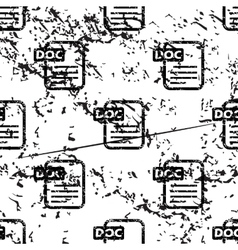DOC document pattern grunge monochrome vector image vector image