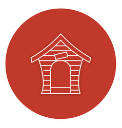 Dog house isolated icon vector