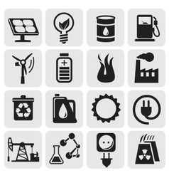 Eco icons for clean energy vector image vector image
