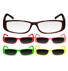 eyeglasses 2 vector image vector image
