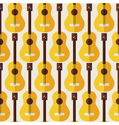 Flat seamless background pattern music instrument vector