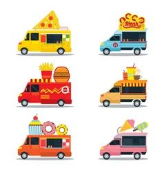 Food truck fast food shop vector