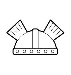 Game warrior helmet icon vector
