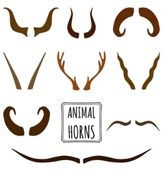 Hand drawn silhouettes collection set of animal vector