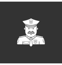 icon police in black uniforms with police badge vector image vector image