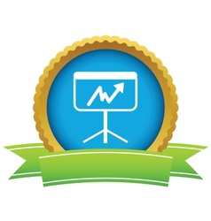 New gold unstable graph logo vector