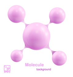Pink molecule isolated on white background vector image