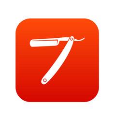 razor blade icon digital red vector image vector image