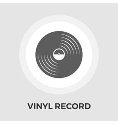 Record flat icon vector
