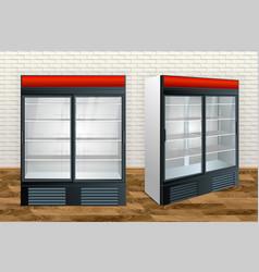 refrigerator showcase kitchen vector image