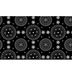 Seamles black and white pattern vector image