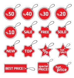 shopping tag vector image
