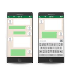 Smartphone social network concept vector