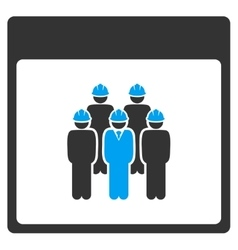 Staff calendar page toolbar icon vector