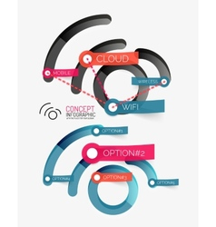 wifi concept and tag cloud vector image