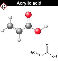 Acrylic acid molecule vector