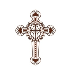 Cross ornate icon vector image