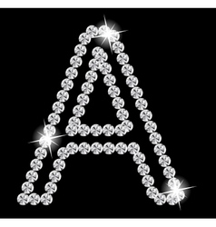 Diamond Alphabet vector image