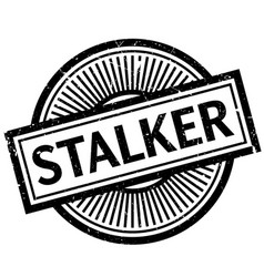 Stalker rubber stamp vector