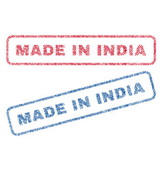 made in india textile stamps vector image