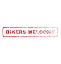 Bikers welcome rubber stamp vector