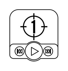 Play button recorder icon vector