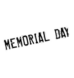 Memorial day rubber stamp vector