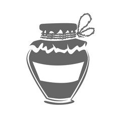 jar silhouette vector image